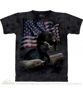 Bear Flag - Animals T Shirt by the Mountain