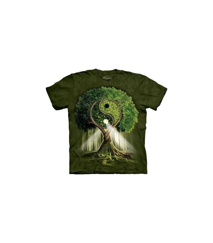 Yin Yang Tree - Nature T Shirt by the Mountain
