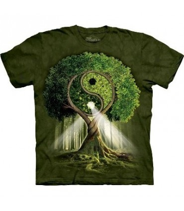 Yin Yang Tree - Nature T Shirt by the Mountain