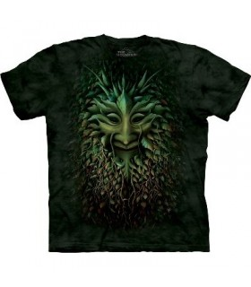 Green Man - Fantasy T Shirt by the Mountain