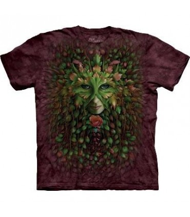 Green Woman - Fantasy T Shirt by the Mountain