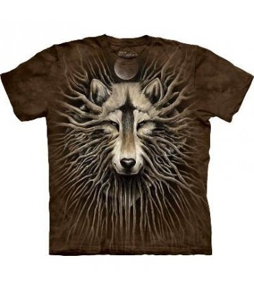 T-Shirt Loup en Racines par The Mountain