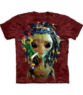 Jammin Alien - Sci Fi T Shirt by the Mountain