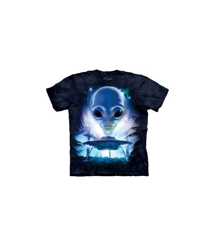 Just Visiting - Sci-Fi T Shirt by the Mountain