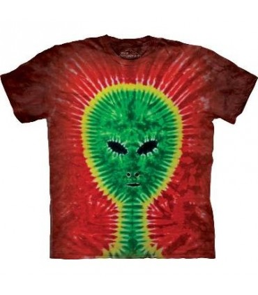 Tie-Dye Alien - Streetwear T Shirt by the Mountain