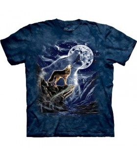 Esprit Loup de la Lune - T-shirt Indien par The Mountain