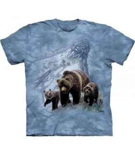 Grizzly Family - Zoo Animals T Shirt by the Mountain