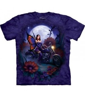 Fairy Biker - Fantasy T Shirt by the Mountain