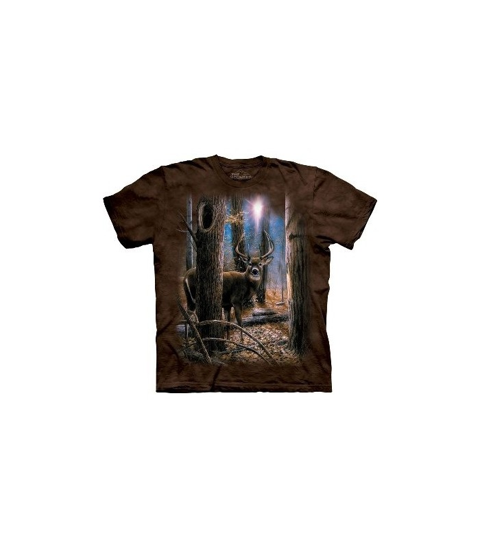 Woodland Sentry Buck - Zoo Animals T Shirt by the Mountain