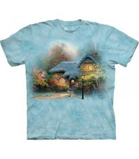 Heather's Hutch - T-shirt paysage par The Mountain
