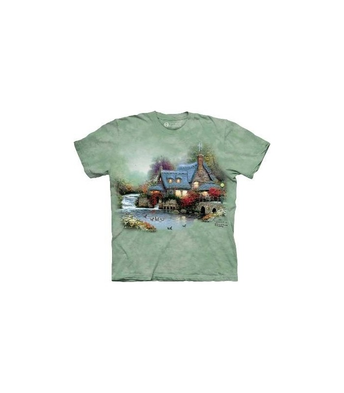 MIller's Cottage - Kinkade T Shirt by The mountain