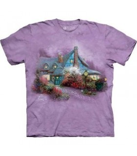 Sweetheart Cottage - Landscape T Shirt by the Mountain