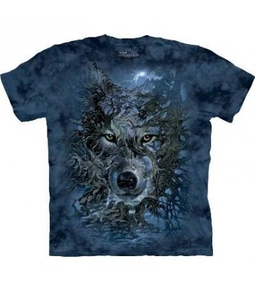 L'arbre Loup - T-shirt loup par The Mountain