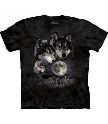 T-Shirt Famille Loup par The Mountain