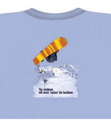 Wishbone - T-Shirt Snowboard par The Mountain