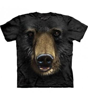 Black Bear Face - Animals T Shirt by the Mountain