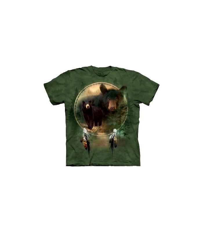 T-shirt Bouclier Ours Noir par The Mountain