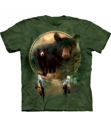 Black Bear Shield - Native American T Shirt by the Mountain