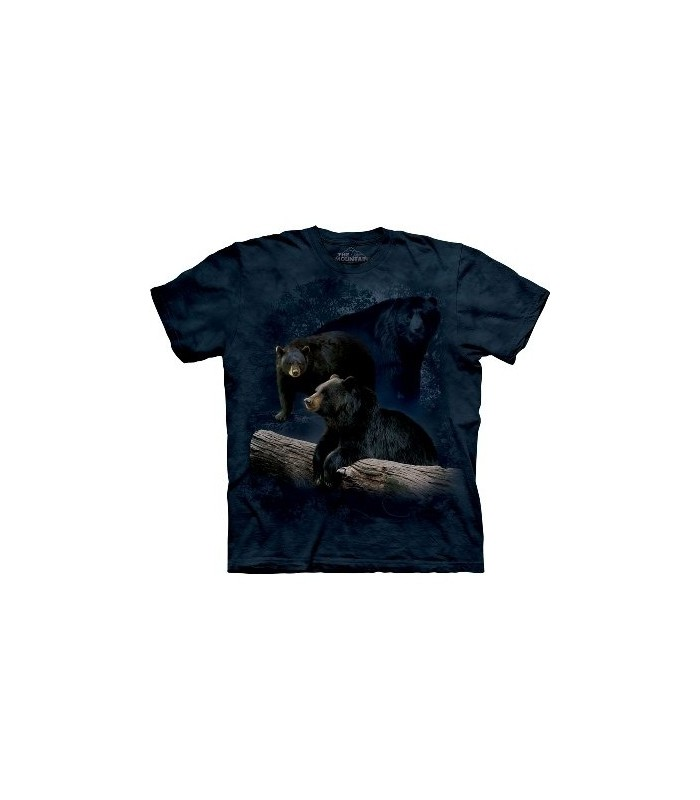 Black Bear Trilogy - Animals T Shirt by the Mountain
