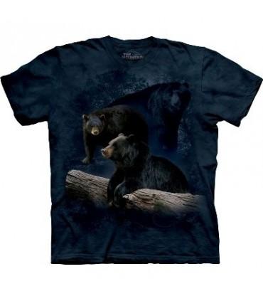 Trilogie Ours Noir - T-shirt animal par The Mountain