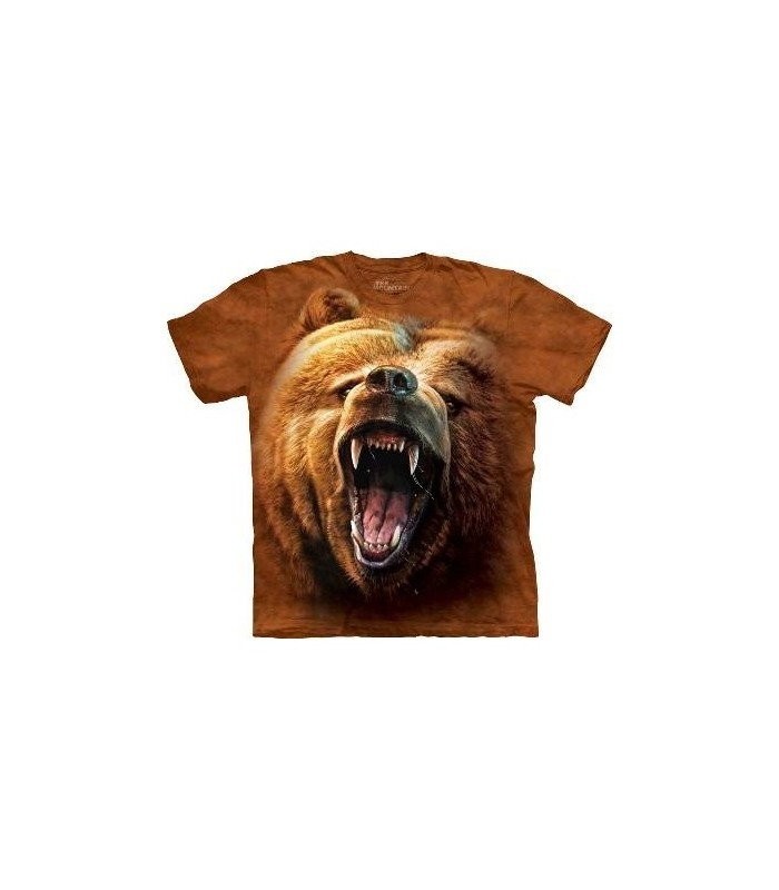 Grizzly Growl - Bear T Shirt by the Mountain