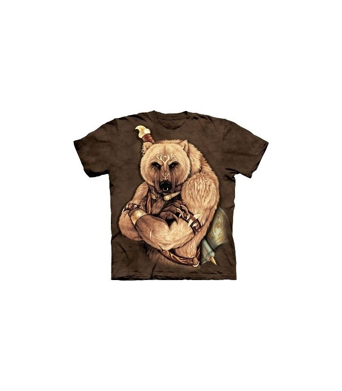 Tribal Bear - Animals T Shirt by the Mountain