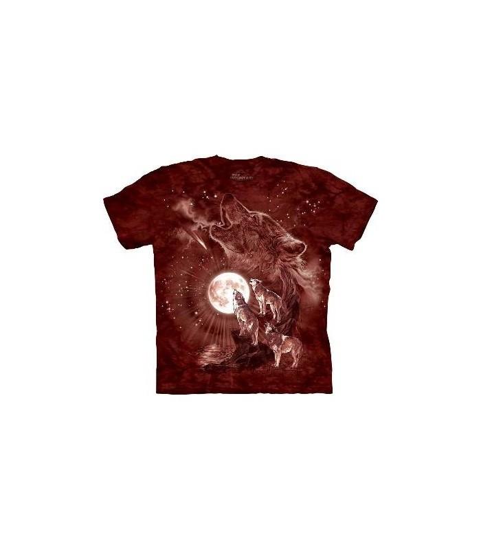 Concert de Loups à la Lune - T-Shirt animal par The Mountain