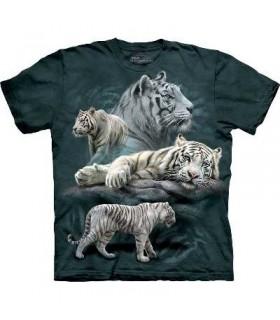 T-Shirt Tigres Blancs par The Mountain
