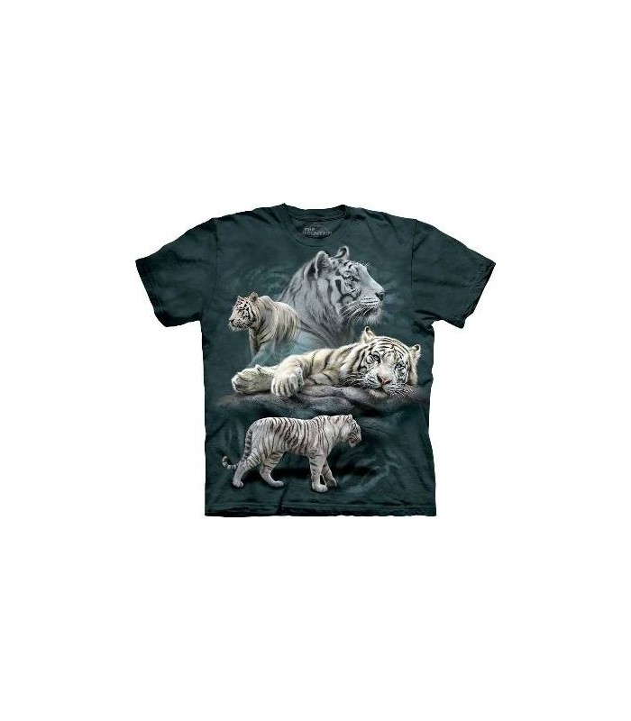 White Tiger Collage - Big Cats T Shirt by the Mountain