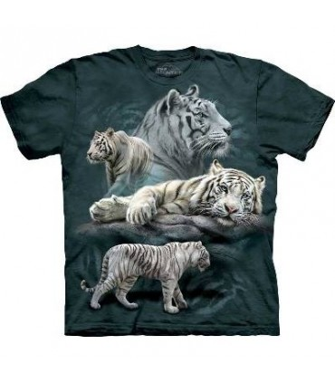 T-Shirt Tigres Blancs par The Mountain
