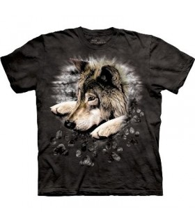 Wolf in Dye Paw - T Shirt The Mountain