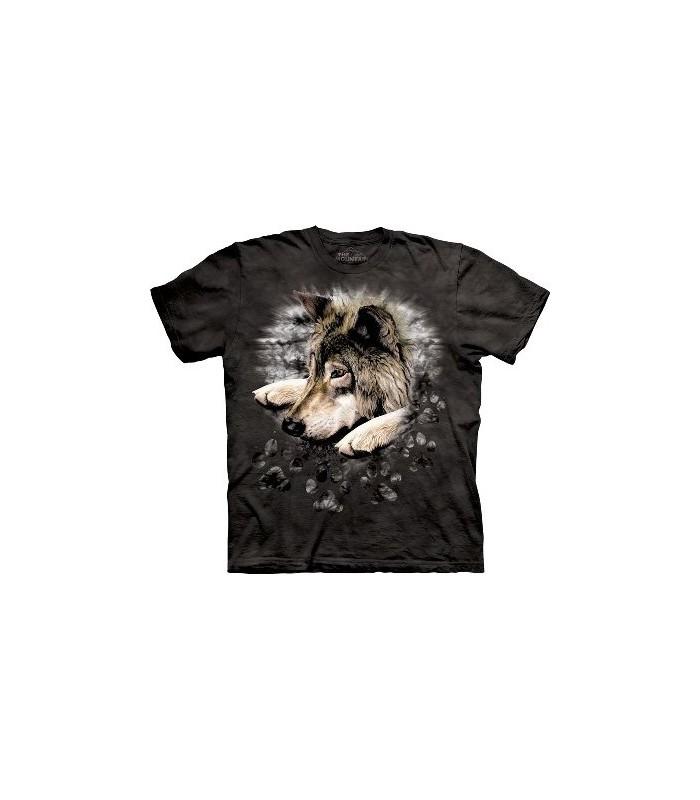 Loup couché - T-shirt animal par the Mountain