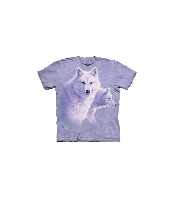 Gracieux Loups Blancs - T-shirt animal par The Mountain