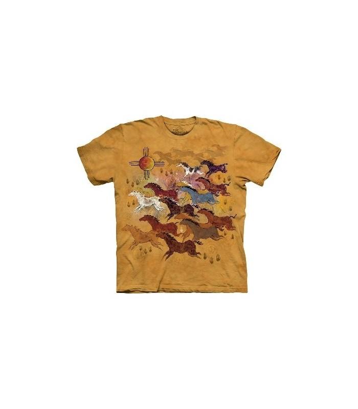 Chevaux et Soleil - T-shirt Amérindien The Mountain