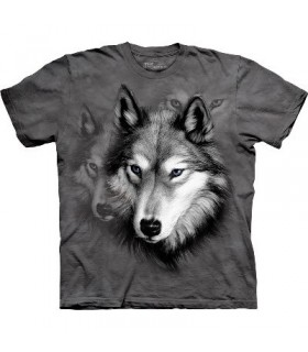 Wolf Portrait - Animal T Shirt The Mountain