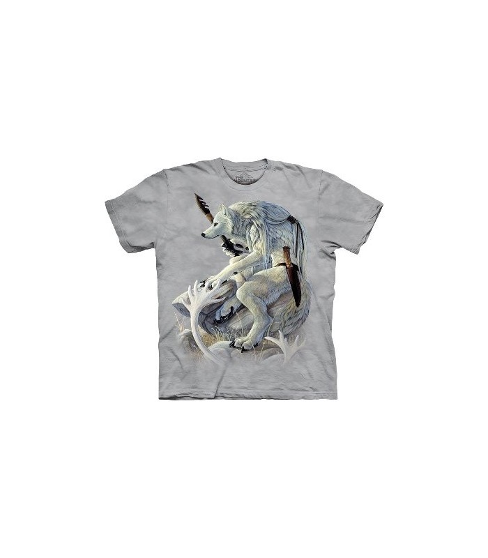 White Wolf Spirit - Native Americans T Shirt by The Mountain