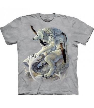 Esprit du Loup Blanc - T-shirt amérindien The Mountain