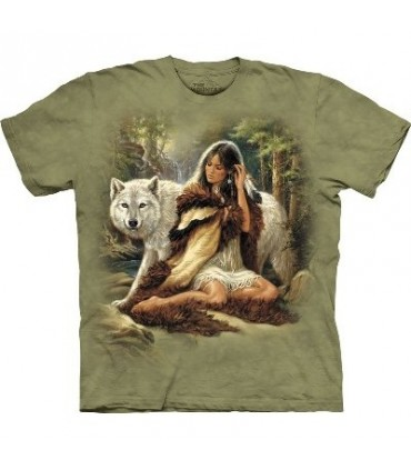 Le Protecteur - T-shirt Loup The Mountain