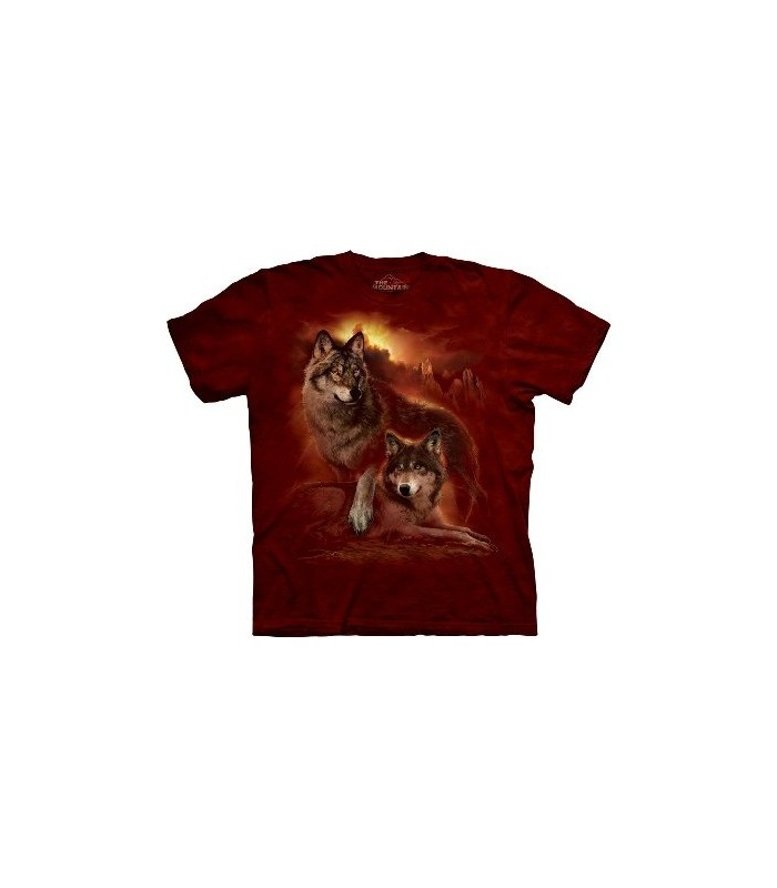 Wolf Sunset - Zoo Animals T Shirt by the Mountain