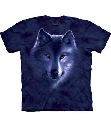 T-shirt Loup bleu par The Mountain