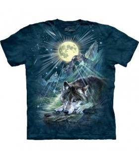 Symphonie nocturne pour Loup - T-shirt animal The Mountain