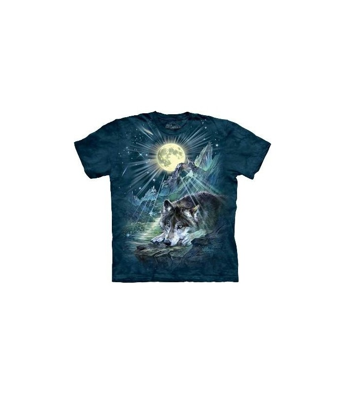 Wolf Night Symphony - Animals T Shirt by the Mountain