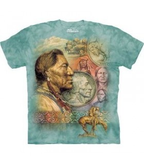 Five Cent Peace - Native American T Shirt by the Mountain