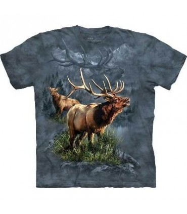 Elk Protector - Animals T Shirt by the Mountain