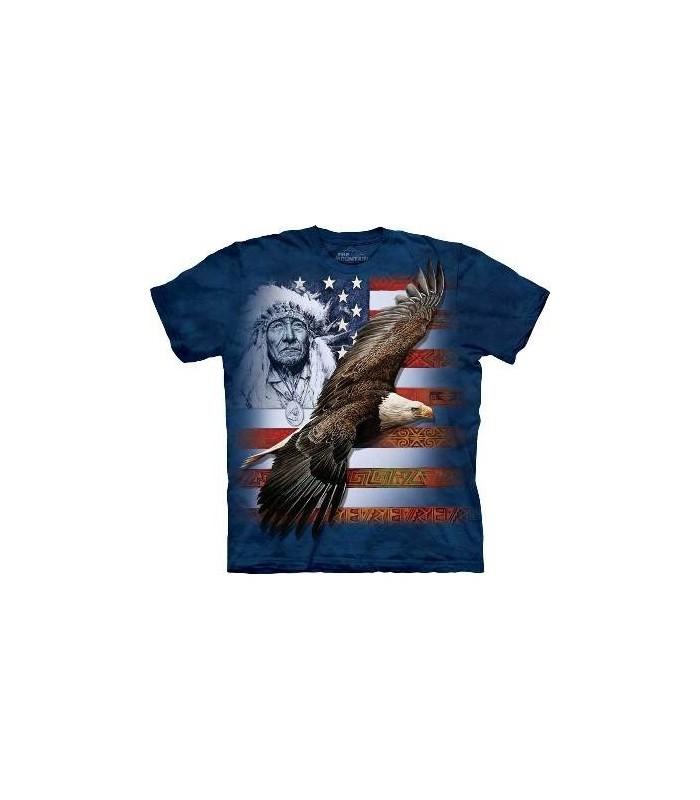 Esprit de l'Amérique - T-shirt patriotique The Mountain