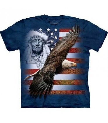 Spirit of America - Patriotic T Shirt by the Mountain
