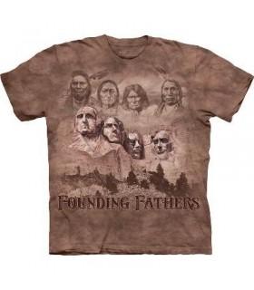 Les Fondateurs - T-shirt patriotique USA par The Mountain