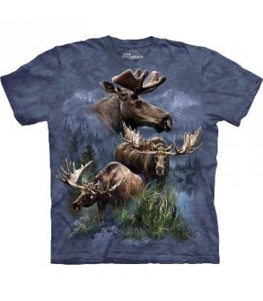 Moose Collage - Animals T Shirt by the Mountain