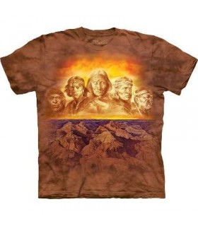 Grandfathers - Native American T Shirt by the Mountain