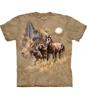 Chevaux Patriotiques - T-shirt Cheval The Mountain